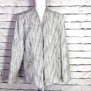 J. Crew Black & White Blazer Jacket New w Tags XXL